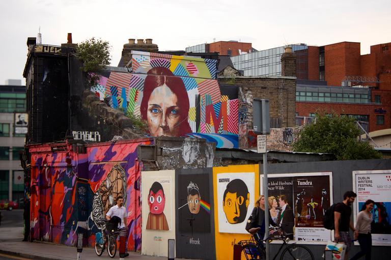 Street art paintings in St Petersburg, Florida