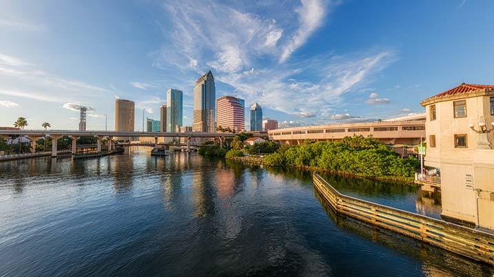 Downtown Tampa, FL view